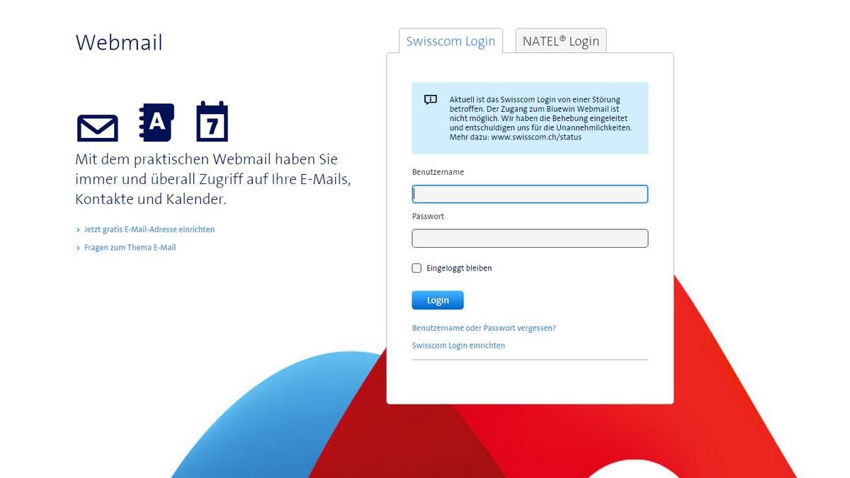 bluewin passwort vergessen