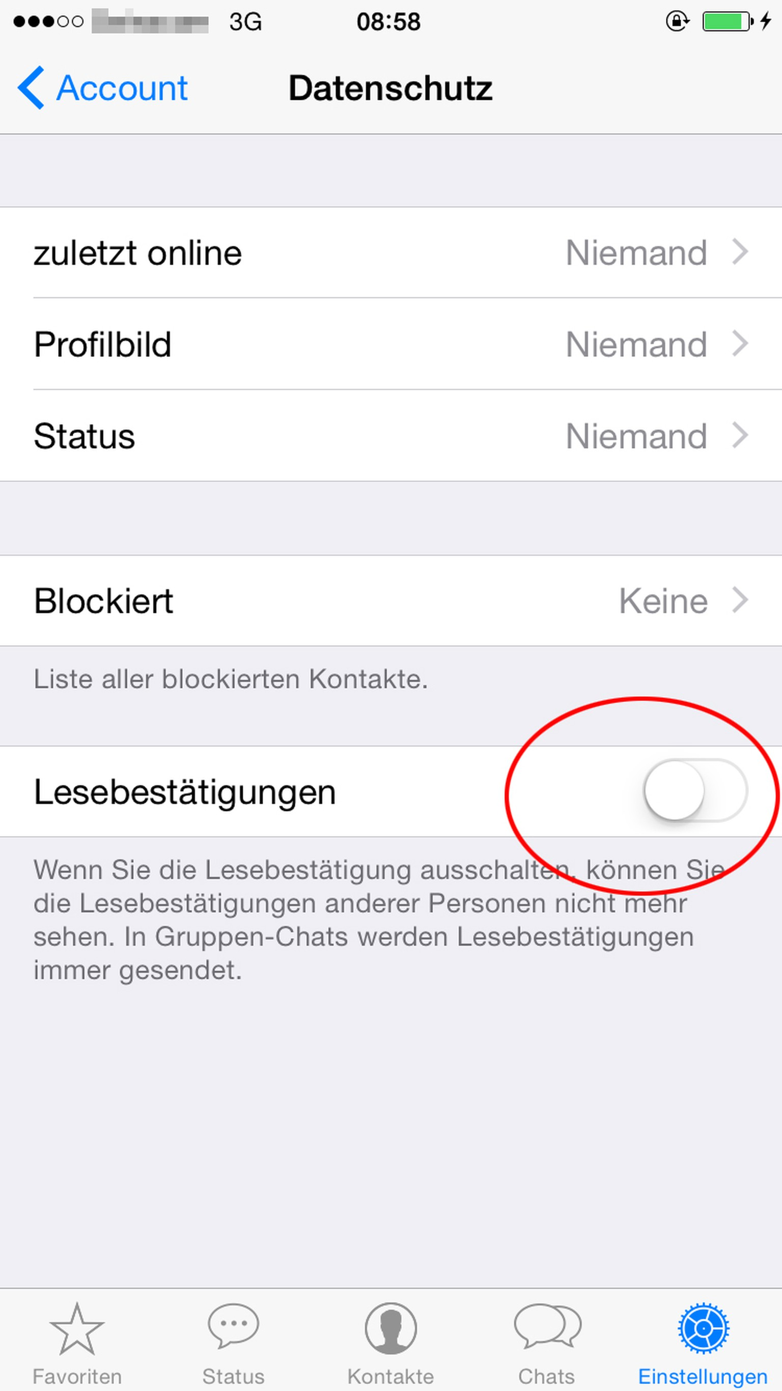 Whatsapp chat als gelesen markieren blaue haken